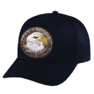 "Defenders Of Our Freedom - 3"" Circle On Black Cap-Hero's Pride"