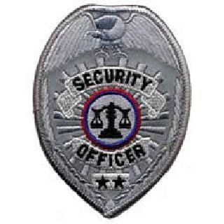 "Security Officer - Reflective Silver - 2-1/2 X 3-1/2""-"