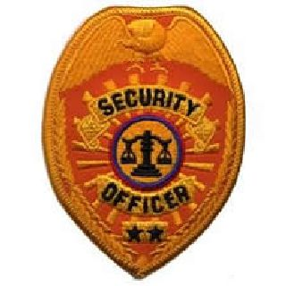 "Security Officer - Reflective Gold - 2-1/2 X 3-1/2""-"