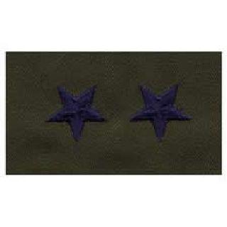 Pairs - Cloth Rank Insignia - Subdued - Maj General-