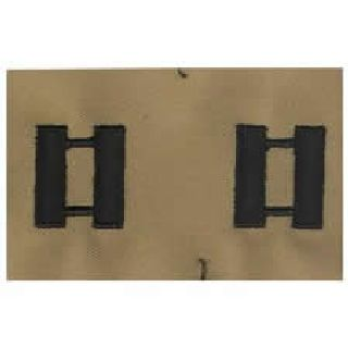 Pairs - Cloth Rank Insignia - Desert - Captain-