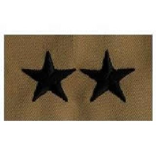 Pairs - Cloth Rank Insignia - Desert - Maj General-Hero's Pride