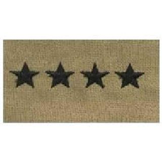 Pairs - Cloth Rank Insignia - Desert - General-