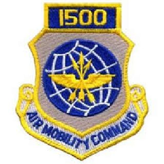 "1500 Air Mobility Command - w/Hook - 3 X 3-1/2""-Hero's Pride"