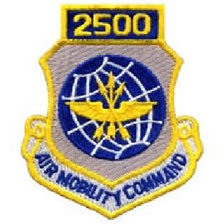 2500 Air Mobility Command - w/Hook - 3 X 3-1/2""