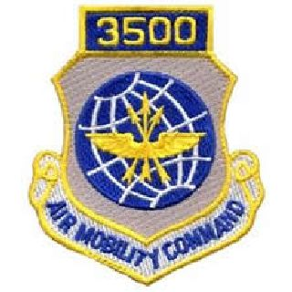 3500 Air Mobility Command - w/Hook - 3 X 3-1/2""