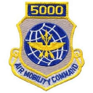 "5000 Air Mobility Command - w/Hook - 3 X 3-1/2""-"