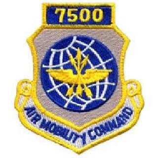 "7500 Air Mobility Command - w/Hook - 3 X 3-1/2""-"