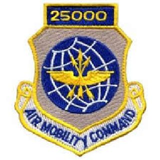 25,000 Air Mobility Command - w/Hook - 3 X 3-1/2