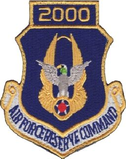 Air Force Reserve Command 2000 (Hook) -3 X 3-5/8-