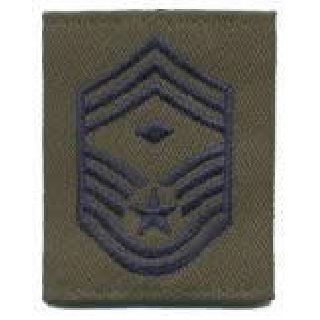 Each - Gortex Rank Insignia - Chief Msgt w/Diamond - Subdued-Hero's Pride