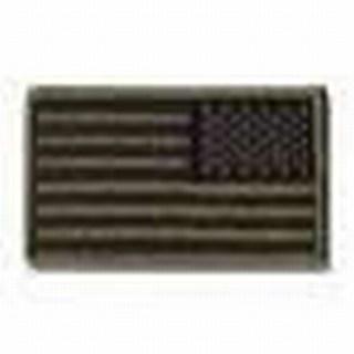 U.S. Flag - Subdued (Reverse) - w/Hook - 3-3/8 X 2-