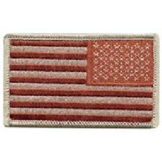 U.S. Flag - Desert (Reversed)- No Hook - 3-3/8 X 2-