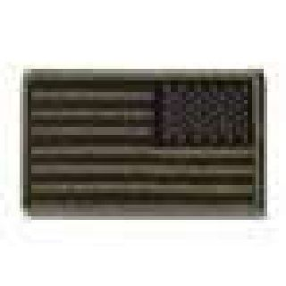 U.S. Flag-Subdued (Reverse) - No Hook - 3-3/8 X 2""