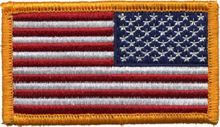 "U.S. Flag - Reverse w/Hook - 3-1/4"" X 1-13/16""-Hero's Pride"