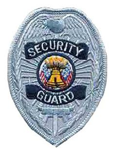 Security Guard - Silver Badge - 2-1/2 X 3-3/8-