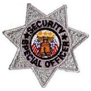 "Security Special Officer - 7 Pt Silver Star - 3 X 3""-"