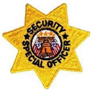 "Security Special Officer - 7 Pt Gold Star - 3 X 3""-"