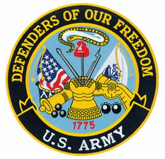 "8239A-Defenders Of Our Freedom - Army - 12""Circle-Hero's Pride"