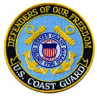 "Defenders Of Our Freedom - Coast Guard - 12""Circle-"