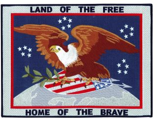 "Land Of The Free, Home Of The Brave - 12 X 9""-"