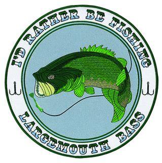 """Largemouth Bass - 12""""Circle-"""