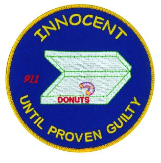 "Innocent Until Proved Guilty - 5"" Circle-"