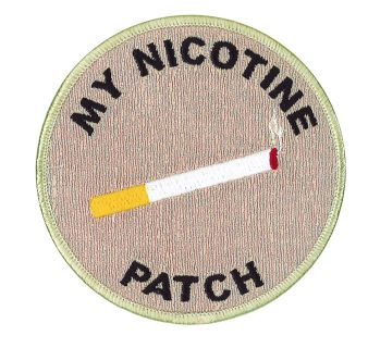 "My Nicotine Patch - 4"" Circle-"