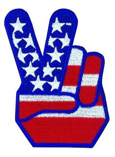"""Peace Hand U.S. Flag - 2-3/4 X 3-1/2"""""""