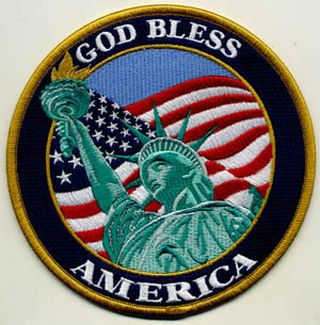"God Bless America - 5"" Circle-Hero's Pride"