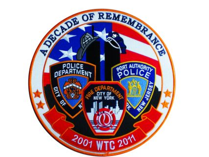 "2001 WTC 2011 A Decade Of Remembrance - 11-3/4"" Circle-"