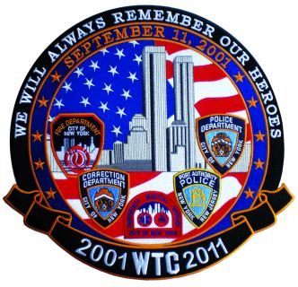 2001 WTC 2011 We Will Always Remember - 11-3/4""