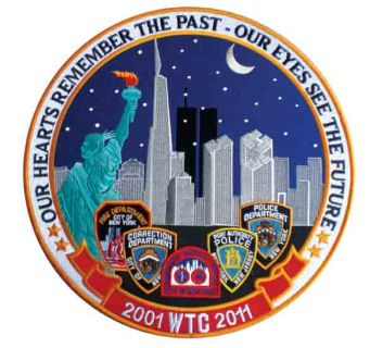 "2001 WTC 2011 Our Eyes See The Future- 11-3/4"" Circle-Hero's Pride"