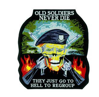 """Old Soldiers Never Die - 5 X 4-5/8""""-"""