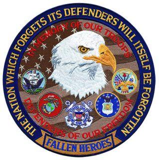 """Fallen Heroes Defender Of Freedom - 5""""Circle-"""