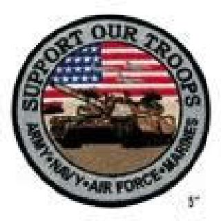 "Support Our Troops - 5""Circle-"