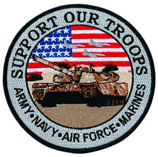 "Support Our Troops - 12""Circle-"