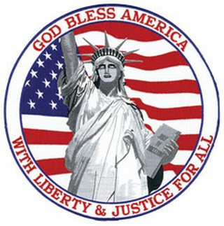 "God Bless America (grey) - 12""Circle-Hero's Pride"