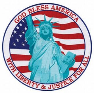 "God Bless America (green) - 12""Circle-"
