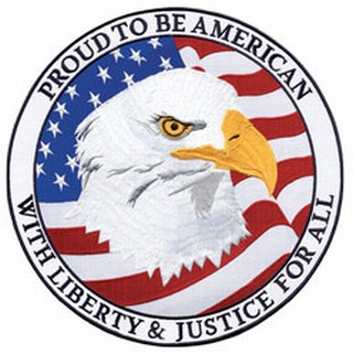 "Proud To Be American With Liberty - 12""Circle-"