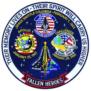 "Fallen Heroes Space Program - 12""Circle-"