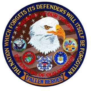 """Fallen Heroes Defenders Of Freedom - 12""""Circle-"""