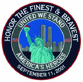 "United We Stand NYPD FDNY - 12""Circle-"
