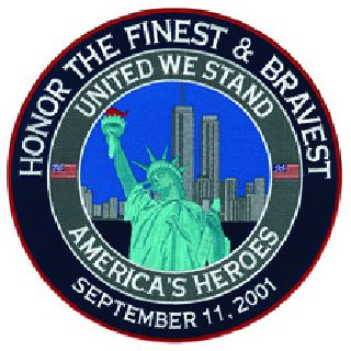 "United We Stand NYPD FDNY - 5""Circle-"