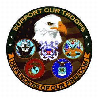 """Defenders Of Freedom - 5""""Window Cling Decal-"""