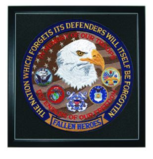 "Fallen Heroes Defender - 12""Circle - Framed"