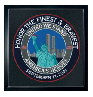 "8455A-United We Stand - 12""Circle - Framed-"