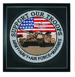 "Support Our Troops - 12""Circle - Framed-"