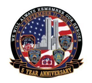 """September 11, 2001 - 5 Years Anniversary - 12""""Circle-"""