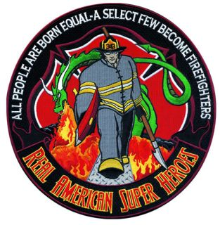 """Firefighter: American Super Heroes - 12""""Circle-"""
